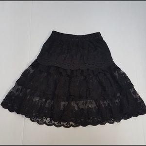 O2 Collection Flare Lace Boho Skirt Sz S